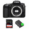 Canon EOS 90D Nu + SanDisk 64GB Extreme PRO UHS-I SDXC 170 MB/s + 2 Canon LP-E6N | Garantie 2 ans