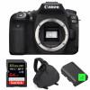 Canon EOS 90D Cuerpo + SanDisk 64GB Extreme PRO UHS-I SDXC 170 MB/s + 2 Canon LP-E6N  + Bolsa | 2 años de garantía