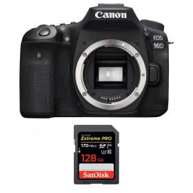 Canon EOS 90D Body + SanDisk 128GB Extreme PRO UHS-I SDXC 170 MB/s | 2 Years Warranty