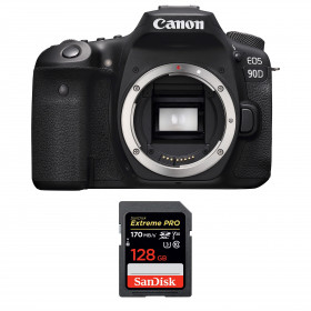 Canon EOS 90D Cuerpo + SanDisk 128GB Extreme PRO UHS-I SDXC 170 MB/s | 2 años de garantía