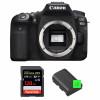 Canon EOS 90D Nu + SanDisk 128GB Extreme PRO UHS-I SDXC 170 MB/s + 2 Canon LP-E6N | Garantie 2 ans