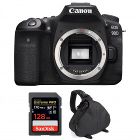 Canon EOS 90D Cuerpo + SanDisk 128GB Extreme PRO UHS-I SDXC 170 MB/s + Bolsa | 2 años de garantía