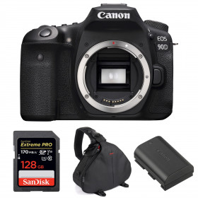 Canon EOS 90D Nu + SanDisk 128GB Extreme PRO UHS-I SDXC 170 MB/s + Canon LP-E6N + Sac