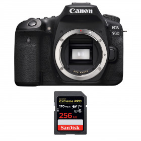 Canon EOS 90D Cuerpo + SanDisk 256GB Extreme PRO UHS-I SDXC 170 MB/s | 2 años de garantía