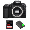 Canon EOS 90D Nu + SanDisk 256GB Extreme PRO UHS-I SDXC 170 MB/s + 2 Canon LP-E6N | Garantie 2 ans