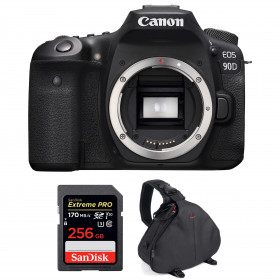 Canon EOS 90D Body + SanDisk 256GB Extreme PRO UHS-I SDXC 170 MB/s + Camera Bag | 2 Years Warranty