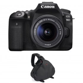 Canon EOS 90D + 18-55mm F/3.5-5.6 EF-S IS STM + Bolsa