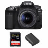 Canon EOS 90D + 18-55mm F/3.5-5.6 EF-S IS STM + SanDisk 64GB Extreme PRO UHS-I SDXC 170 MB/s + Canon LP-E6N | Garantie 2 ans