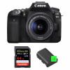 Canon EOS 90D + 18-55mm IS STM + SanDisk 64GB Extreme PRO UHS-I SDXC 170 MB/s + 2 Canon LP-E6N | Garantie 2 ans