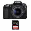 Canon EOS 90D + 18-55mm F/3.5-5.6 EF-S IS STM + SanDisk 256GB Extreme PRO UHS-I SDXC 170 MB/s | 2 años de garantía