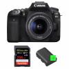 Canon EOS 90D + 18-55mm IS STM + SanDisk 256GB Extreme PRO UHS-I SDXC 170 MB/s + 2 Canon LP-E6N | Garantie 2 ans