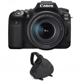 Appareil photo Reflex Canon 90D + 18-135mm f/3.5-5.6 IS USM + Sac