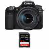 Canon EOS 90D + 18-135mm f/3.5-5.6 IS USM + SanDisk 64GB Extreme PRO UHS-I SDXC 170 MB/s | Garantie 2 ans