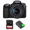 Canon EOS 90D + 18-135mm f/3.5-5.6 IS USM + SanDisk 64GB Extreme PRO UHS-I SDXC 170 MB/s + 2 Canon LP-E6N | 2 Years Warranty
