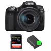 Canon EOS 90D + 18-135mm f/3.5-5.6 IS USM + SanDisk 64GB Extreme PRO UHS-I SDXC 170 MB/s + 2 Canon LP-E6N   Garantie 2 ans