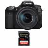 Canon EOS 90D + 18-135mm f/3.5-5.6 IS USM + SanDisk 128GB Extreme PRO UHS-I SDXC 170 MB/s | 2 años de garantía