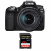 Canon EOS 90D + 18-135mm f/3.5-5.6 IS USM + SanDisk 128GB Extreme PRO UHS-I SDXC 170 MB/s | Garantie 2 ans