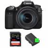 Canon EOS 90D + 18-135mm f/3.5-5.6 IS USM + SanDisk 128GB Extreme PRO UHS-I SDXC 170 MB/s + 2 Canon LP-E6N | Garantie 2 ans