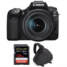Canon EOS 90D + 18-135mm f/3.5-5.6 IS USM + SanDisk 128GB Extreme PRO UHS-I SDXC 170 MB/s + Bolsa | 2 años de garantía
