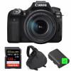 Canon EOS 90D + 18-135mm IS USM + SanDisk 128GB Extreme PRO UHS-I SDXC 170 MB/s + 2 Canon LP-E6N  + Bolsa | 2 años de garantía