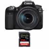 Canon EOS 90D + 18-135mm f/3.5-5.6 IS USM + SanDisk 256GB Extreme PRO UHS-I SDXC 170 MB/s | 2 años de garantía