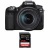 Canon EOS 90D + 18-135mm f/3.5-5.6 IS USM + SanDisk 256GB Extreme PRO UHS-I SDXC 170 MB/s | Garantie 2 ans