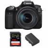 Canon EOS 90D + 18-135mm f/3.5-5.6 IS USM + SanDisk 256GB Extreme PRO UHS-I SDXC 170 MB/s + Canon LP-E6N | 2 años de garantía