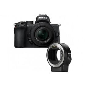 Nikon Z50 + Nikon Z DX 16-50 mm f/3.5-6.3 + Nikon FTZ   2 años de garantía