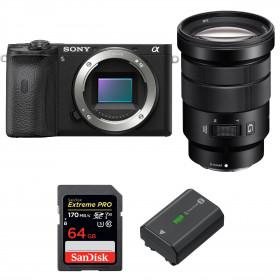 Sony ALPHA 6600 + Sony E PZ 18-105mm f/4 G OSS + SanDisk 64GB Extreme PRO UHS-I SDXC 170 MB/s + Sony NP-FZ100