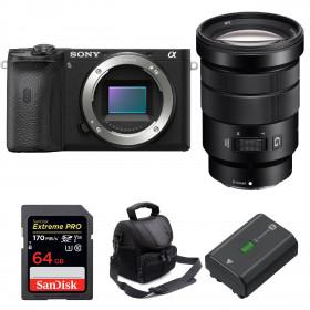 Sony ALPHA 6600 + E PZ 18-105mm f/4 G OSS + SanDisk 64GB Extreme PRO UHS-I 170 MB/s + NP-FZ100 + Sac