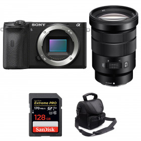 Sony ALPHA 6600 + Sony E PZ 18-105mm f/4 G OSS + SanDisk 128GB Extreme PRO UHS-I SDXC 170 MB/s + Sac