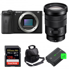 Sony ALPHA 6600 + E PZ 18-105mm f/4 G OSS + SanDisk 128GB Extreme PRO UHS-I 170 MB/s + 2 NP-FZ100 + Sac