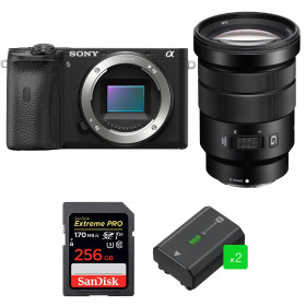 Sony ALPHA 6600 + E PZ 18-105mm f/4 G OSS + SanDisk 256GB Extreme PRO UHS-I SDXC 170 MB/s + 2 Sony NP-FZ100