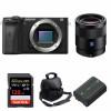 Sony ALPHA 6600 + Sonnar T* FE 55mm f/1.8 ZA + SanDisk 128GB Extreme PRO 170 MB/s + NP-FZ100 + Sac | Garantie 2 ans
