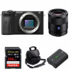 Sony ALPHA 6600 + Sonnar T* FE 55mm f/1.8 ZA + SanDisk 256GB Extreme PRO 170 MB/s + NP-FZ100 + Sac | Garantie 2 ans