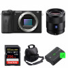 Sony ALPHA 6600 + Sonnar T* FE 55mm f/1.8 ZA + SanDisk 256GB Extreme PRO 170 MB/s + 2 NP-FZ100 + Sac | Garantie 2 ans