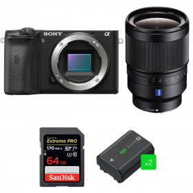 Sony ALPHA 6600 + Sony Distagon T* FE 35mm f/1.4 ZA + SanDisk 64GB Extreme PRO UHS-I 170 MB/s + 2 NP-FZ100 | 2 Years Warranty