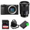 Sony ALPHA 6600 + Distagon T* FE 35mm f/1.4 ZA + SanDisk 128GB Extreme PRO 170 MB/s + 2 NP-FZ100 + Sac| Garantie 2 ans