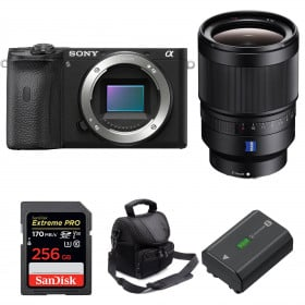 Sony ALPHA 6600 + Distagon T* FE 35mm f/1.4 ZA + SanDisk 256GB Extreme PRO 170 MB/s + NP-FZ100 + Camera Bag | 2 Years Warranty