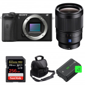 Sony ALPHA 6600 + Distagon T* FE 35mm f/1.4 ZA + SanDisk 256GB Extreme PRO 170 MB/s + 2 NP-FZ100 + Camera Bag | 2 Years Warranty