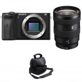 Sony ALPHA 6600 + Sony E 16-55mm f/2.8 G + Bolsa