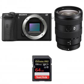 Sony ALPHA 6600 + Sony E 16-55mm f/2.8 G + SanDisk 64GB Extreme PRO UHS-I SDXC 170 MB/s | 2 Years Warranty