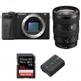Sony ALPHA 6600 + Sony E 16-55mm f/2.8 G + SanDisk 64GB Extreme PRO UHS-I SDXC 170 MB/s + Sony NP-FZ100