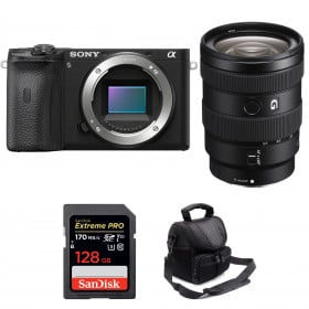 Sony ALPHA 6600 + Sony E 16-55mm f/2.8 G + SanDisk 128GB Extreme PRO UHS-I SDXC 170 MB/s + Bolsa