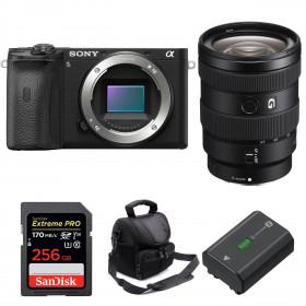 Sony ALPHA 6600 + Sony E 16-55mm f/2.8 G + SanDisk 256GB Extreme PRO 170 MB/s + Sony NP-FZ100 + Bolsa