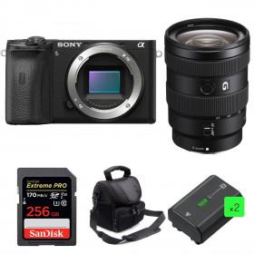 Sony ALPHA 6600 + Sony E 16-55mm f/2.8 G + SanDisk 256GB Extreme PRO 170 MB/s + 2 NP-FZ100 + Bolsa
