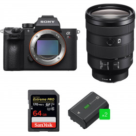 Sony ALPHA 7R III + FE 24-105 mm F4 G OSS + SanDisk 64GB Extreme PRO UHS-I 170 MB/s + 2 Sony NP-FZ100