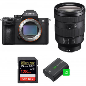 Sony ALPHA 7R III + FE 24-105 mm F4 G OSS + SanDisk 128GB Extreme PRO UHS-I 170 MB/s + 2 Sony NP-FZ100