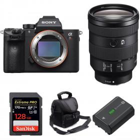 Sony ALPHA 7R III + FE 24-105 mm F4 G OSS + SanDisk 128GB Extreme PRO 170 MB/s + Sony NP-FZ100 + Sac