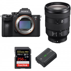 Sony ALPHA 7R III + FE 24-105 mm F4 G OSS + SanDisk 256GB Extreme PRO UHS-I 170 MB/s + Sony NP-FZ100
